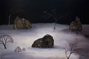 """northern edge of our dreams"", 92x122cmMan Yung Gallery, Melbourne"